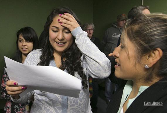 Gutierrez Reacts to Election Results. GORDON KING/Yakima Herald-Republic
