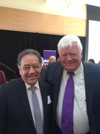 Professor Lauro Flores with Rep. Jim McDermott