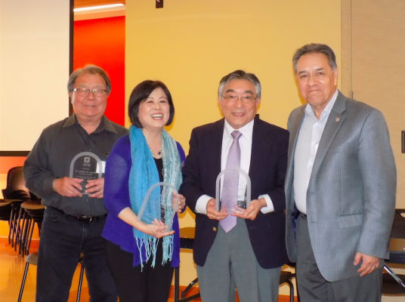 Professors Sumida, Nomura, Kashima and Flores at the AES Symposium
