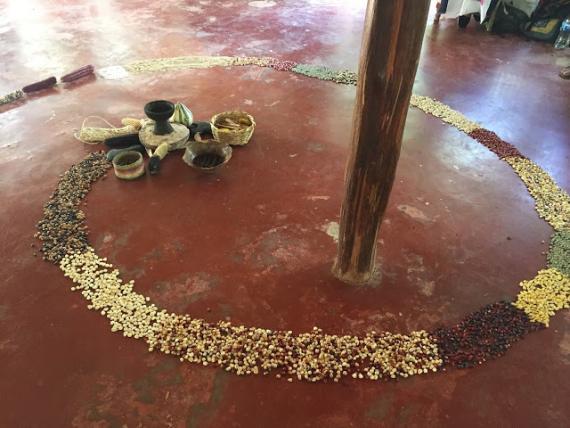Corn Spiral at Voices of Maiz
