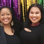 Dr. LaShawnDa Pittman (left) honored at the Black Student Union Legacy Soiree