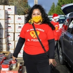 Roxana Pardo Garcia, cofounder of Alimentado el Pueblo, poses for a portrait outside Lake Burien Presbyterian Church, December 14, 2020