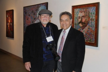 Alfredo Arreguín and Professor Lauro Flores