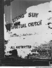 "Photo of ""Rising Sun"" storefront church"